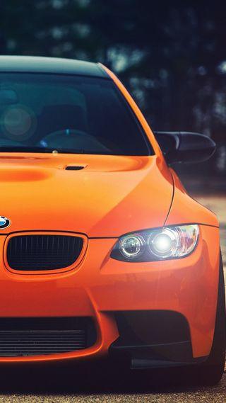 Обои на телефон немецкие, оранжевые, машины, бмв, bmw