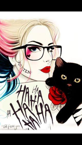Обои на телефон харли, логотипы, кошки