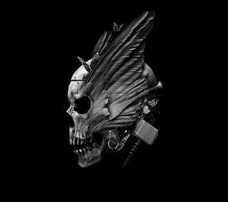 Обои на телефон тор, череп, thor skull