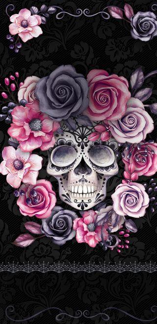 Обои на телефон племенные, розовые, rosa craneo