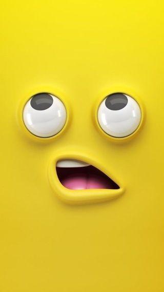 Обои на телефон эмоджи, рот, персонажи, омг, лицо, желтые, мультфильмы, глаза