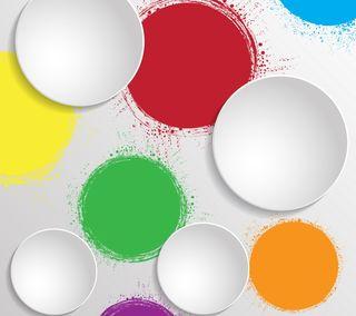 Обои на телефон геометрические, цветные, фон, круги, красые, зеленые, абстрактные, 3д, 3d