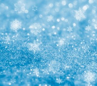 Обои на телефон light blue, абстрактные, синие, фон, снег, свет, снежинки