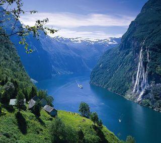 Обои на телефон водопад, приятные, природа, взгляд, nature waterfall