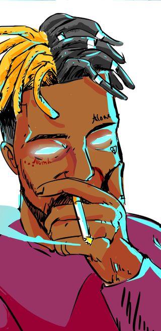 Обои на телефон hd, x*xtentacion rapper, музыка, рисунки, рэп, граффити, городские, рэпер