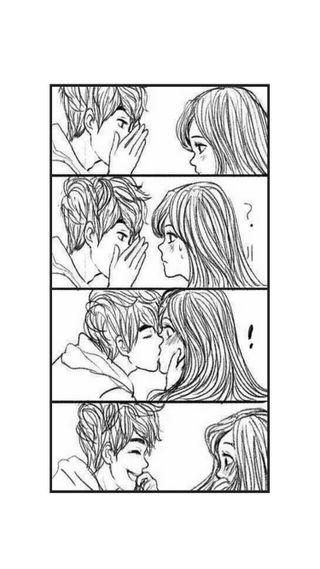 Обои на телефон поцелуй, романтика, рисунки, пара, милые, любовь, love