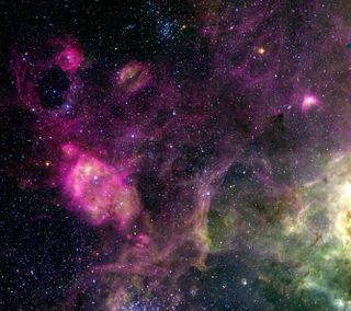 Обои на телефон фиолетовые, космос, галактика, purple space, galaxy, astro