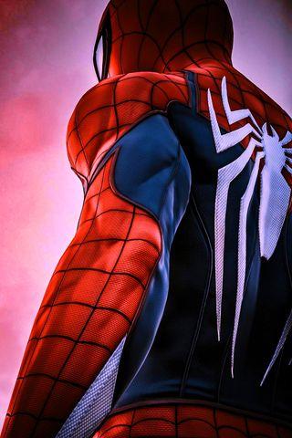 Обои на телефон ps4, marvel, синие, красые, марвел, игра, человек паук, супергерои, день, пс4, яркие, бесконечность