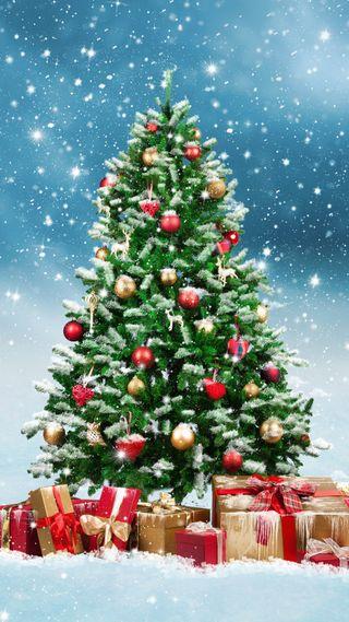Обои на телефон каникулы, рождество, подарки, дерево, декабрь, hd, decorated, 1080p