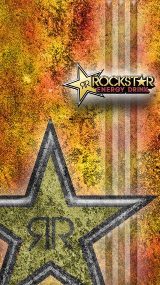 Обои на телефон monster, rockstar, красые, желтые, оранжевые, напиток, энергетики