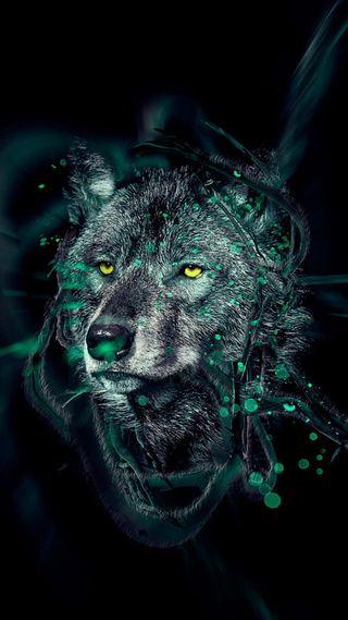 Обои на телефон волк, арт, wolf art, rjt, gfxsa