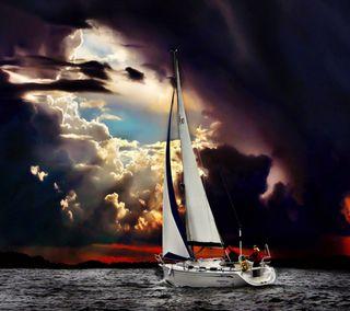 Обои на телефон лодки, шторм, темные, природа, парусные, облака, море, sailing boat, navigation, nature wallpapers, dark clouds