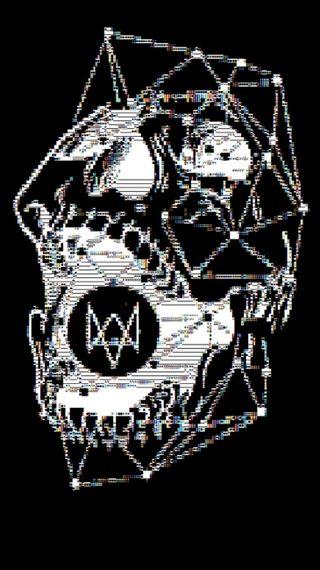 Обои на телефон хакер, череп, логотипы, игра, watchdogs, dedsecskulllogo, dedsec