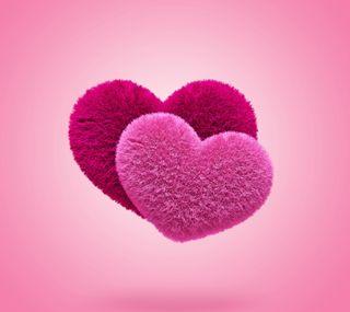 Обои на телефон сердце, розовые, пушистые, любовь, love, 3д, 3d