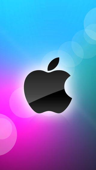 Обои на телефон эпл, фиолетовые, синие, логотипы, apple