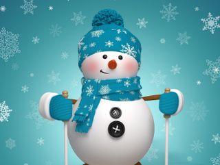 Обои на телефон снеговик, счастливое, снег, рождество, зима