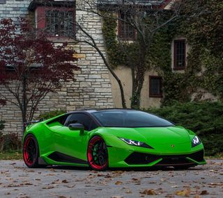 Обои на телефон хуракан, машины, ламборгини, зеленые, lamborghini