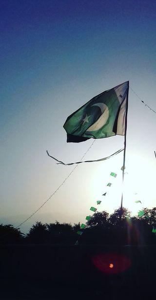 Обои на телефон пакистан, флаг, зеленые