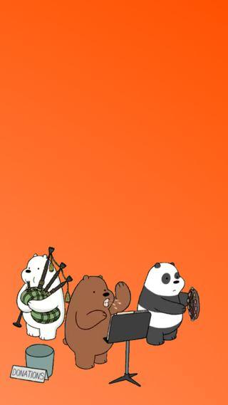 Обои на телефон сеть, медведи, свежие, оранжевые, мультфильмы, милые, забавные, группа, funky and fresh