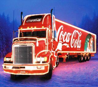 Обои на телефон кока кола, грузовик, рождество, xmas truck, coke truck
