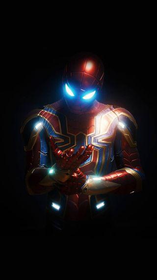 Обои на телефон marvel, iron spider-man, infinty war, марвел, мстители, война, паук, железный, финал, старк