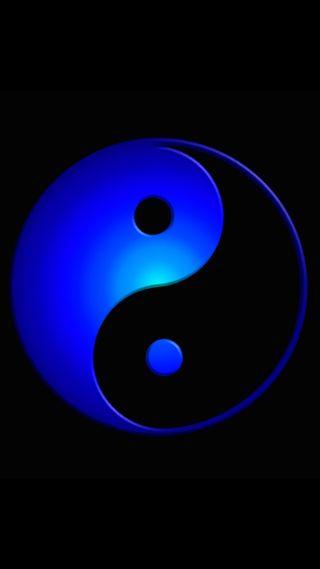 Обои на телефон джин, черные, синие, символ, логотипы, андроид, jin jang, android