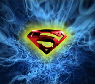 Обои на телефон огонь, супермен