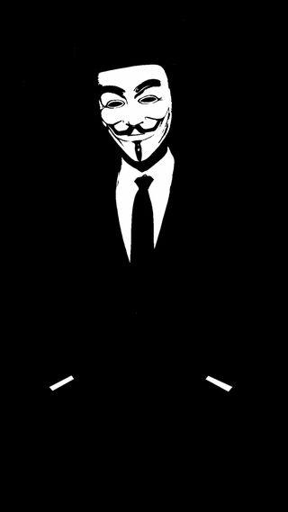 Обои на телефон анонимус, темные, маска
