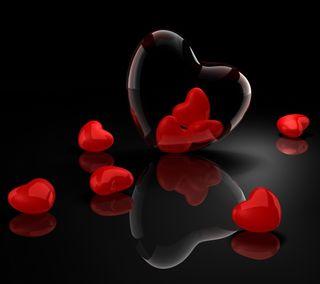 Обои на телефон сердце, любовь, красые, love, 3д, 3d