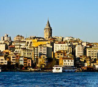 Обои на телефон стамбул, турецкие, галата, башня