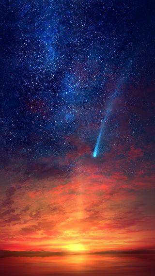 Обои на телефон синие, космос, звезды