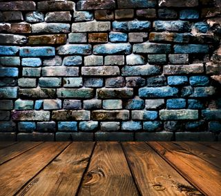 Обои на телефон colored bricks wall, planks background, фон, стена, цветные, кирпичи