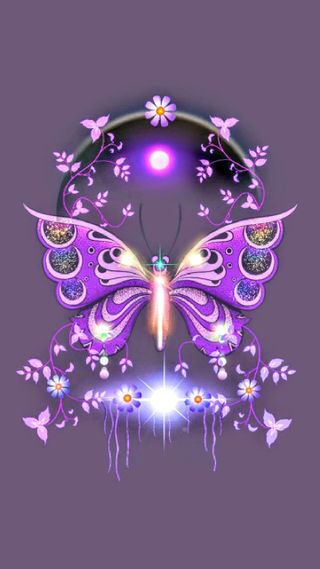 Обои на телефон шик, бриллиант, фиолетовые, бабочки, purple bling diamond, butterfly bling