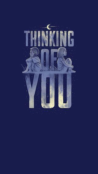 Обои на телефон мышление, лайк, ты, thinking of you
