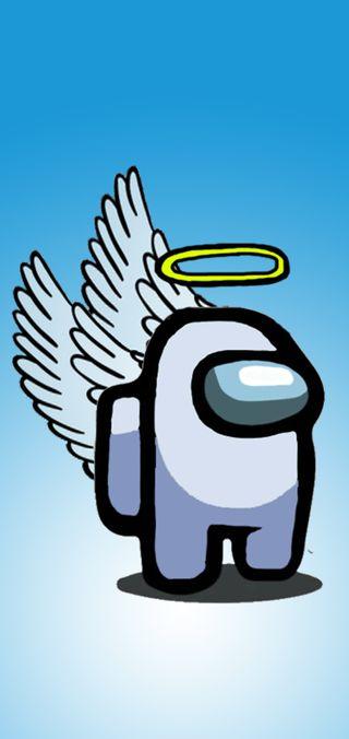 Обои на телефон самсунг, игра, ангел, амонг, wallpaper among us, samsung s10 plus, s10 plus, melesao, among us angel