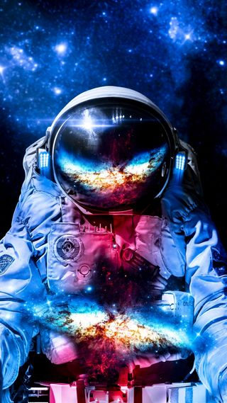 Обои на телефон космонавт, арт, art