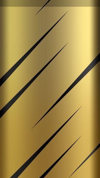Обои на телефон s7 edge, абстрактные, черные, дизайн, грани, золотые