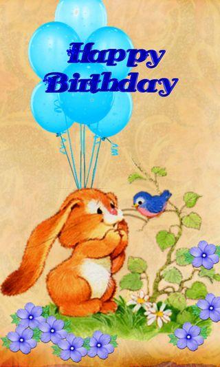 Обои на телефон шары, кролик, счастливые, мультфильмы