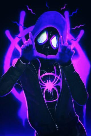 Обои на телефон через вселенные, человек паук