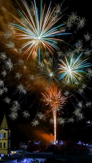 Обои на телефон празднование, фейерверк, счастливые, огонь, новый, год, happy