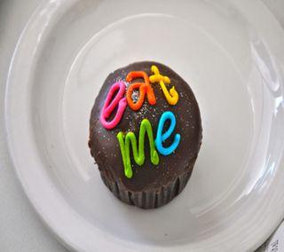 Обои на телефон торт, я, чашка, милые, ешь, eat me, cup