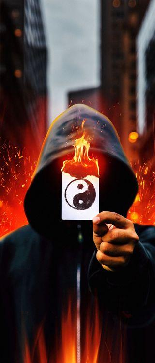 Обои на телефон карты, огонь, новый, маска, игра, джокер, андроид, playingcard, play card, junk, ios, hd, android