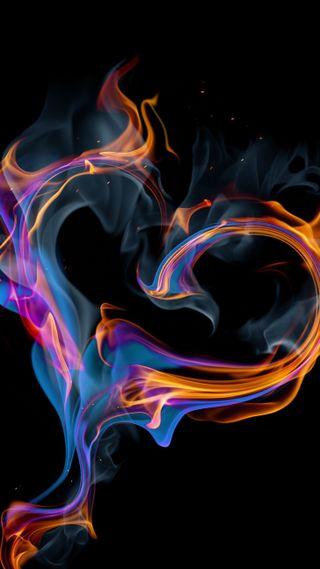 Обои на телефон огонь, сердце, heart on fire, heart on