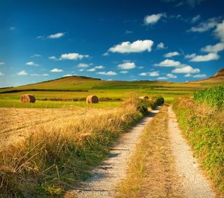 Обои на телефон ферма, природа, дорога, грязь, hd, dirt, 1080p