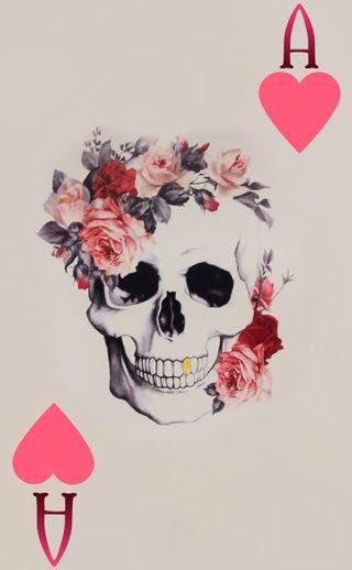 Обои на телефон ace card, gambling, aces high, сердце, красота, смерть, череп, карты, туз, высокий, покер
