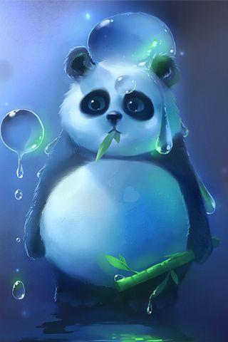 Обои на телефон панда, счастливые, пушистый, пузыри, милые, животные, i4, happy