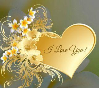Обои на телефон ты, сердце, любовь, золотые, love