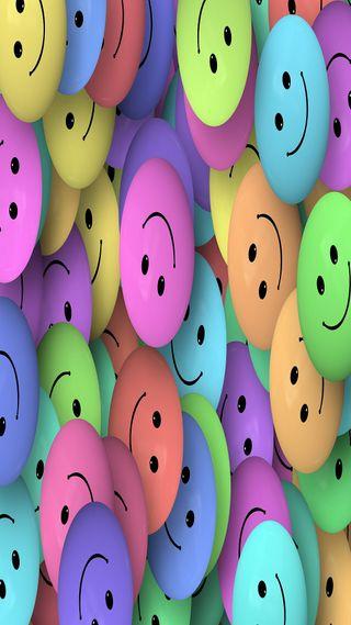 Обои на телефон смайлы, яркие, цветные, счастливые, абстрактные, happy