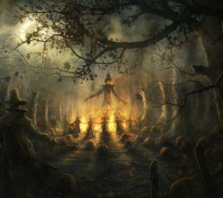 Обои на телефон тыква, хэллоуин, король, pumpkin king