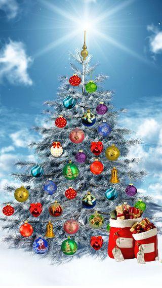 Обои на телефон святой, санта, рождество, дерево, saint nicholas